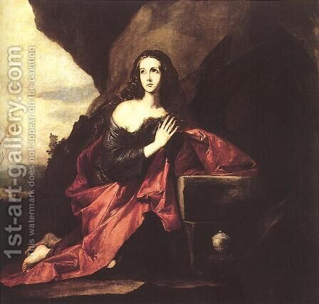 Mary Magdalene in the Desert 1640-41 by Jusepe de Ribera - Reproduction Oil Painting