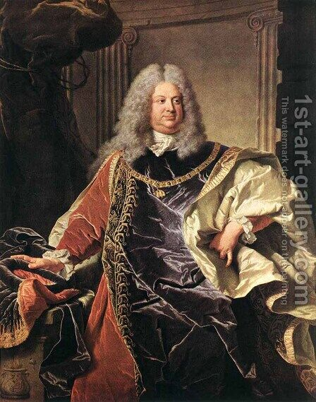 Portait of Count Sinzendorf 1712 by Hyacinthe Rigaud - Reproduction Oil Painting