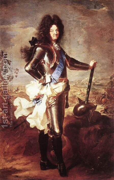 Portrait of Louis XIV 1694 by Hyacinthe Rigaud - Reproduction Oil Painting