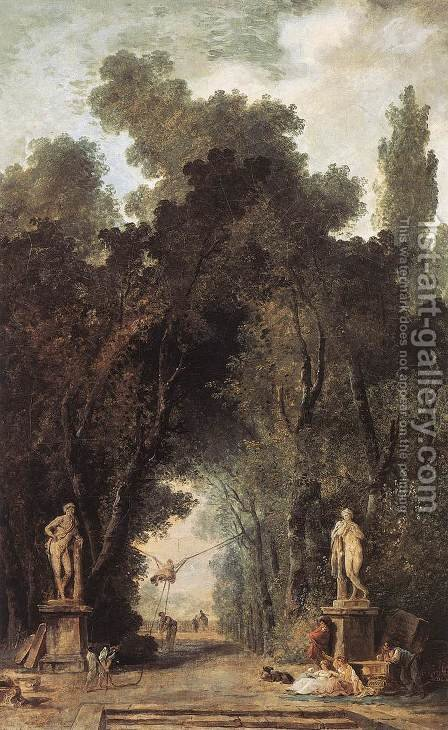 Avenue in a Park 1799 by Hubert Robert - Reproduction Oil Painting