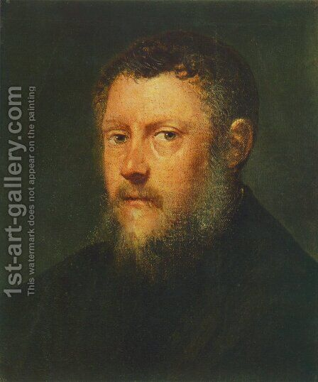 Portrait of a Man (fragment) c. 1548 by Jacopo Tintoretto (Robusti) - Reproduction Oil Painting