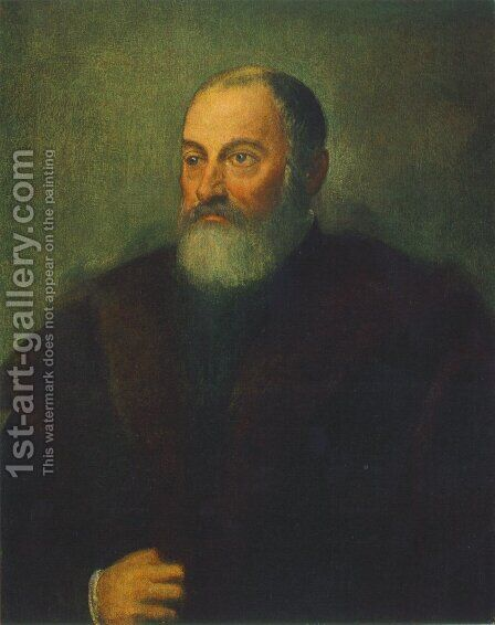 Portrait of a Man c. 1560 by Jacopo Tintoretto (Robusti) - Reproduction Oil Painting