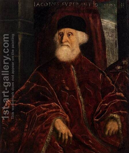 Portrait of Jacopo Soranzo c. 1550 by Jacopo Tintoretto (Robusti) - Reproduction Oil Painting
