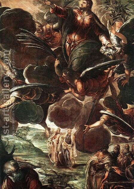The Ascension (detail) 1578-81 by Jacopo Tintoretto (Robusti) - Reproduction Oil Painting