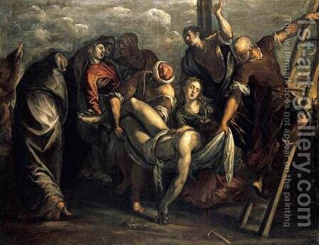 The Deposition 1557-59 by Jacopo Tintoretto (Robusti) - Reproduction Oil Painting