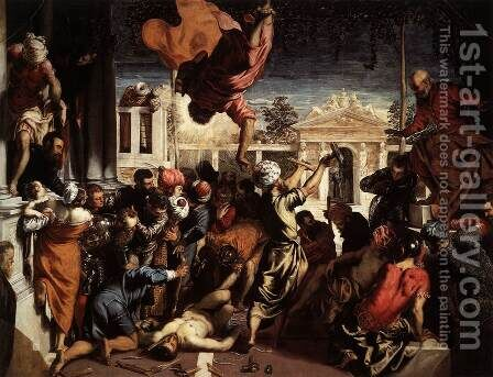 The Miracle of St Mark Freeing the Slave 1548 by Jacopo Tintoretto (Robusti) - Reproduction Oil Painting