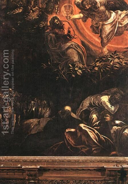 The Prayer in the Garden 1578-81 by Jacopo Tintoretto (Robusti) - Reproduction Oil Painting