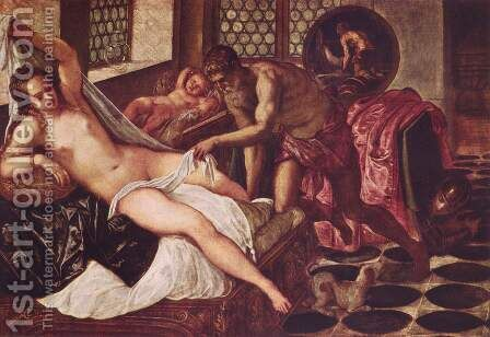 Vulcanus Takes Mars and Venus Unawares by Jacopo Tintoretto (Robusti) - Reproduction Oil Painting