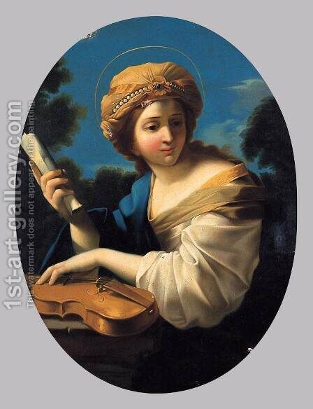 St Cecilia by Giovanni Francesco Romanelli - Reproduction Oil Painting