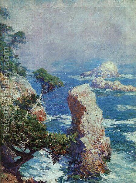 Mist over Point Lobos by Guy Rose - Reproduction Oil Painting