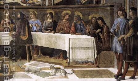 The Last Supper (detail-2) 1481-82 by Cosimo Rosselli - Reproduction Oil Painting