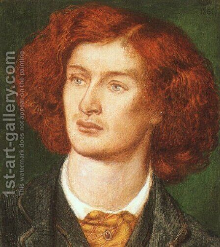 Portrait of Algernon Swinburne 1861 by Dante Gabriel Rossetti - Reproduction Oil Painting