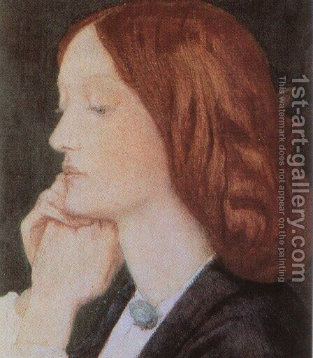 Portrait of Elizabeth Siddal 1854 by Dante Gabriel Rossetti - Reproduction Oil Painting