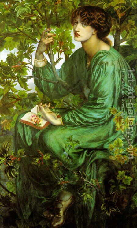 The Day Dream 1880 by Dante Gabriel Rossetti - Reproduction Oil Painting