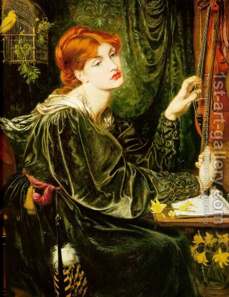 Veronica Veronese 1872 by Dante Gabriel Rossetti - Reproduction Oil Painting
