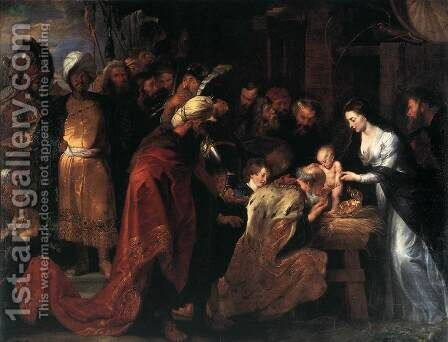 Adoration of the Magi 1618-19 by Rubens - Reproduction Oil Painting