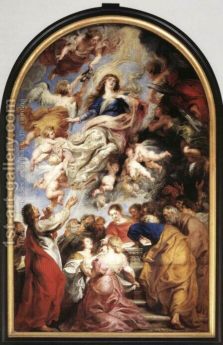 Assumption of the Virgin 1626 by Rubens - Reproduction Oil Painting