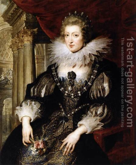 Portrait of Anne of Austria 1621-25 by Rubens - Reproduction Oil Painting