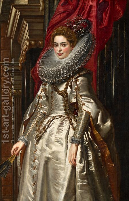 Portrait of Marchesa Brigida Spinola Doria 1606 by Rubens - Reproduction Oil Painting