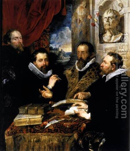The Four Philosophers 1611-12 by Rubens - Reproduction Oil Painting