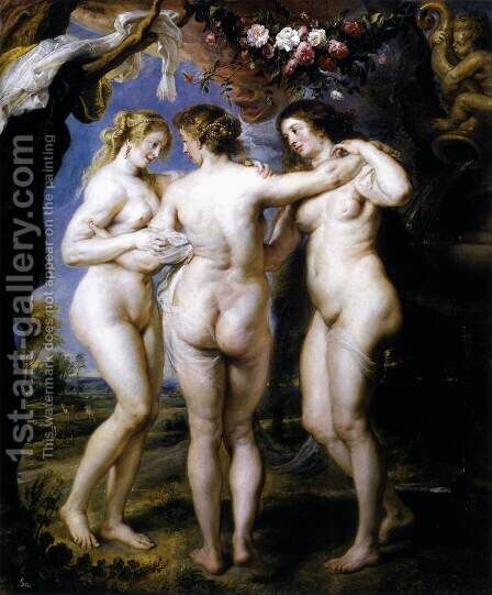 The Three Graces 1639 by Rubens - Reproduction Oil Painting