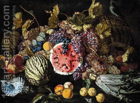 Still-Life of Fruit by Giovanni Battista Ruoppolo - Reproduction Oil Painting
