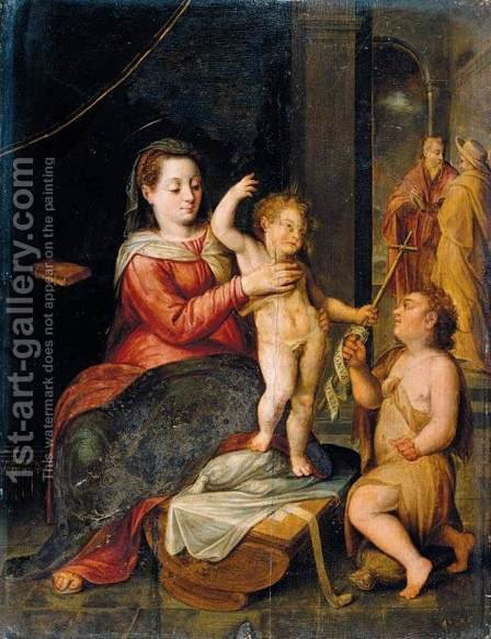 The Virgin and Child by Bernaert de Ryckere - Reproduction Oil Painting