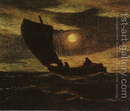 Toilers of the Sea by Albert Pinkham Ryder - Reproduction Oil Painting