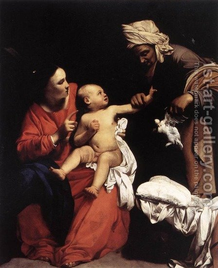 Madonna and Child with St Anne 1610 by Carlo Saraceni - Reproduction Oil Painting