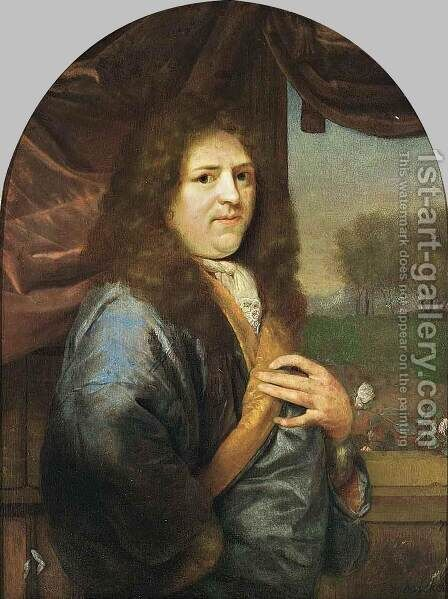 Portrait of a Gentleman by Godfried Schalcken - Reproduction Oil Painting