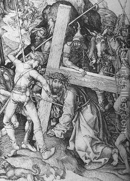 The Road to Calvary (detail) by Martin Schongauer - Reproduction Oil Painting