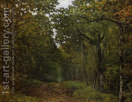 Avenue of Chestnut Trees 1867 by Alfred Sisley - Reproduction Oil Painting