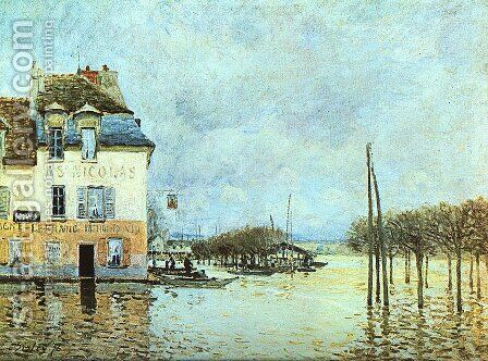 Flood at Pont-Marley 1876 by Alfred Sisley - Reproduction Oil Painting