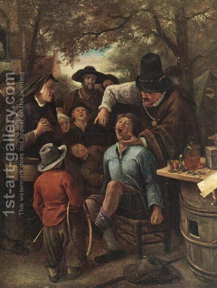 The Quackdoctor by Jan Steen - Reproduction Oil Painting