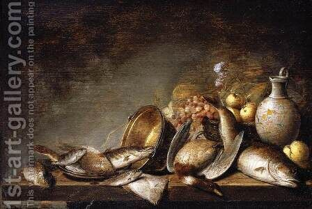 Still-Life (1) 1640 by Harmen Steenwijck - Reproduction Oil Painting