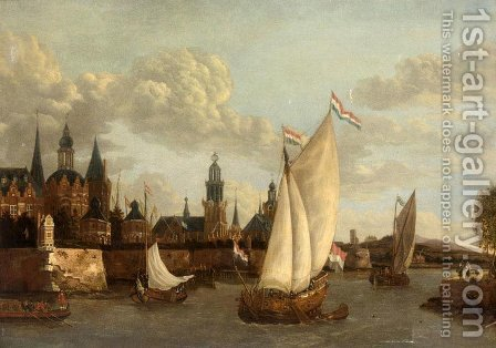 Capriccio View of Haarlem by Jacobus Storck - Reproduction Oil Painting