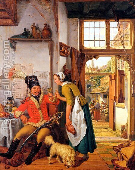 Interior of an Inn 1825 by Abraham van, I Strij - Reproduction Oil Painting