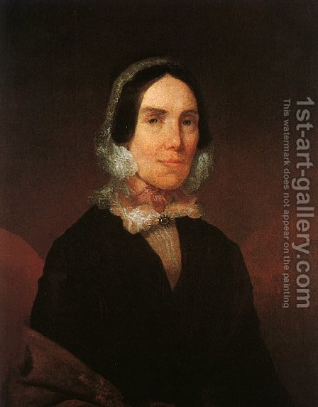 Elizabeth Hunter Strother  1837 by David Hunter Strother - Reproduction Oil Painting