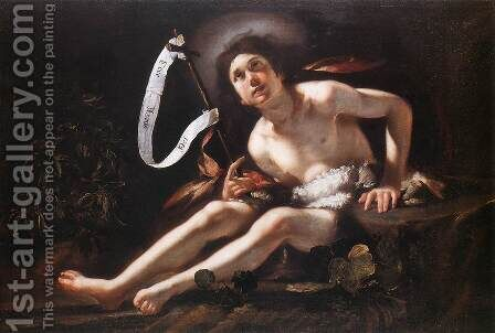 St John the Baptist 1615-20 by Bernardo Strozzi - Reproduction Oil Painting