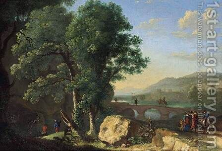 Italianate Landscape 1640s by Herman Van Swanevelt - Reproduction Oil Painting
