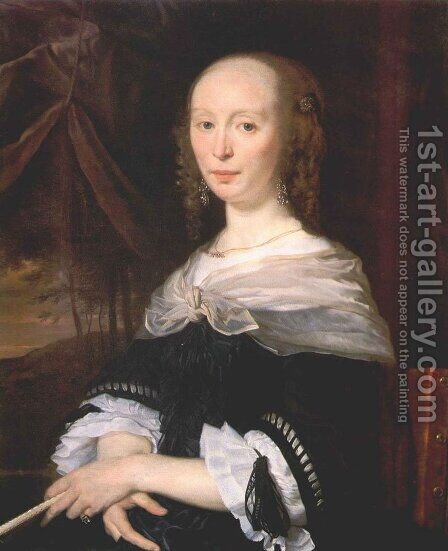 Portrait of a Lady 1660-63 by Abraham van den Tempel - Reproduction Oil Painting