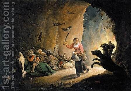 Dulle Griet (Mad Meg) 1640s by David The Younger Teniers - Reproduction Oil Painting