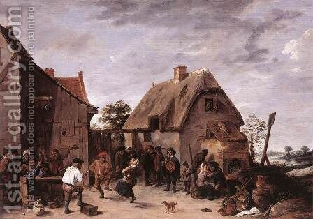 Flemish Kermess 1640 by David The Younger Teniers - Reproduction Oil Painting
