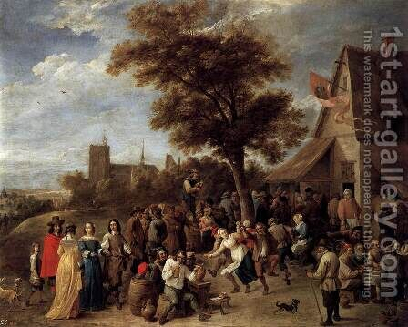 Peasants Merry-making c. 1650 by David The Younger Teniers - Reproduction Oil Painting