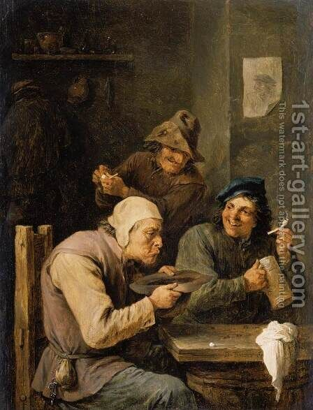 The Hustle-Cap by David The Younger Teniers - Reproduction Oil Painting