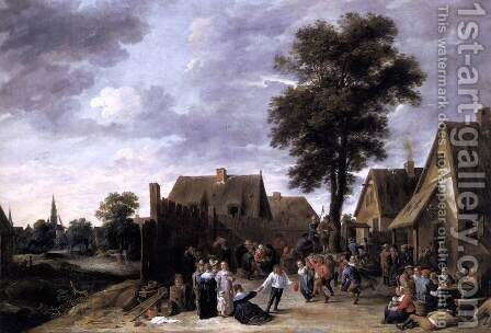 The Kermis at the Half Moon Inn 1641 by David The Younger Teniers - Reproduction Oil Painting