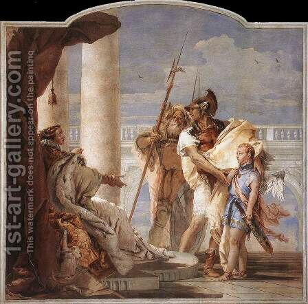 Aeneas Introducing Cupid Dressed as Ascanius to Dido 1757 by Giovanni Battista Tiepolo - Reproduction Oil Painting