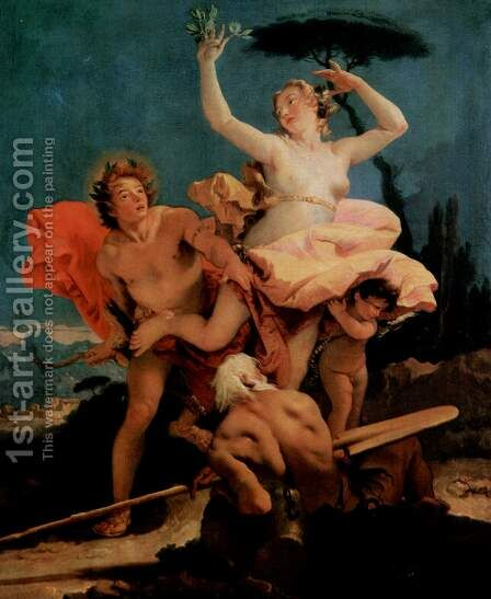 Apollo and Daphne 1744-45 by Giovanni Battista Tiepolo - Reproduction Oil Painting