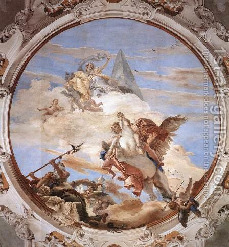 Bellerophon on Pegasus 1746-47 by Giovanni Battista Tiepolo - Reproduction Oil Painting