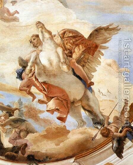 Bellerophon on Pegasus (detail-1) 1746-47 by Giovanni Battista Tiepolo - Reproduction Oil Painting